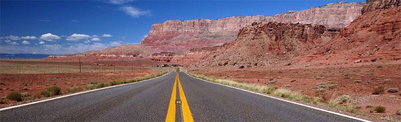 Scenic Highway 89 near the Vermillion Cliffs