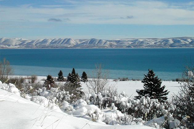 View of Bear Lake in the winter