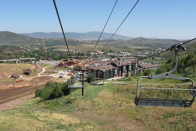 Park City from Sky Lift by Wogger
