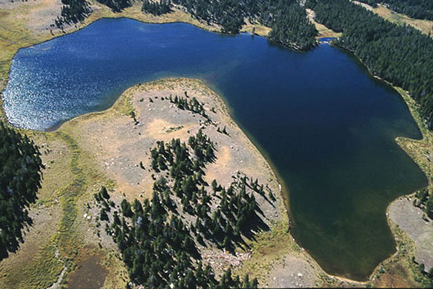 Aerial view of Uinta Lake